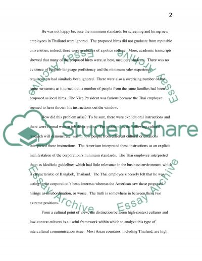 Intercultural Communication in the Workplace essay example