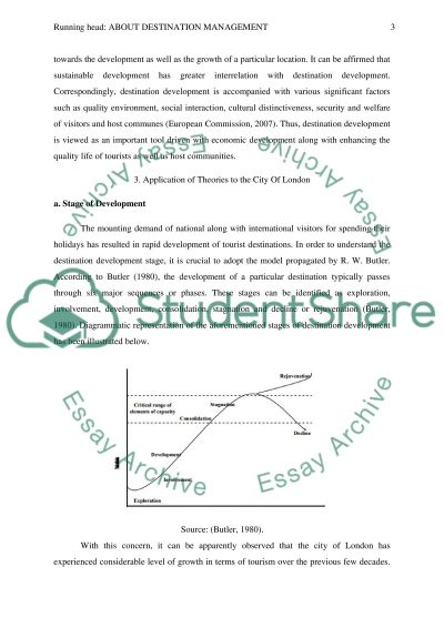 About Destination Management essay example