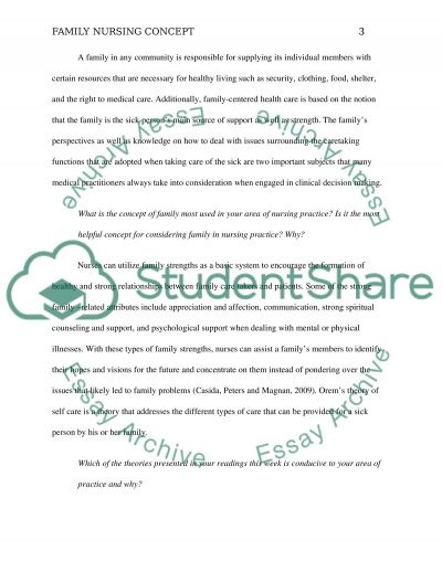family concept Essay example