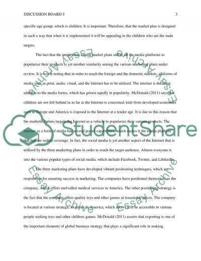 discussion board 5 Essay example