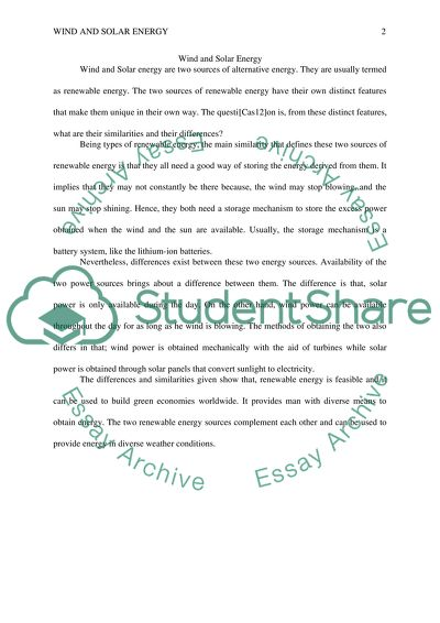 Essay About Learning English Language Wind And Solar Energy  Essay Example Sample High School Essay also Essay For Science Wind And Solar Energy Essay Example  Topics And Well Written Essays  Computer Science Essay