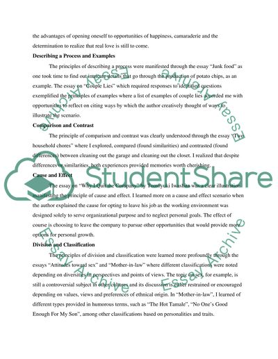 Reflection Paper - 10 Principles learned so far