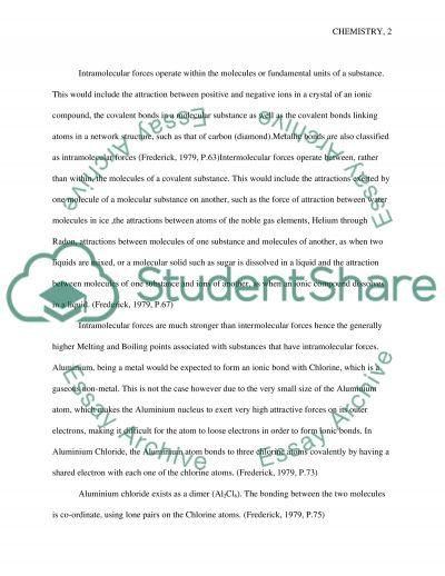 Chemistry chemistry essay example