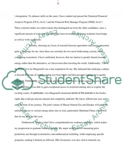 Personal desire to achieve critical research in the field of risk management essay example