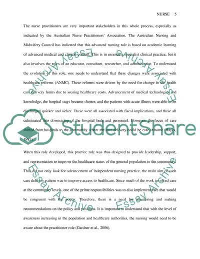 Role of the nurse practitioner essay