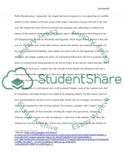 Content Area Teaching Assignment essay example