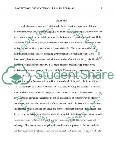 Marketing Environment essay example