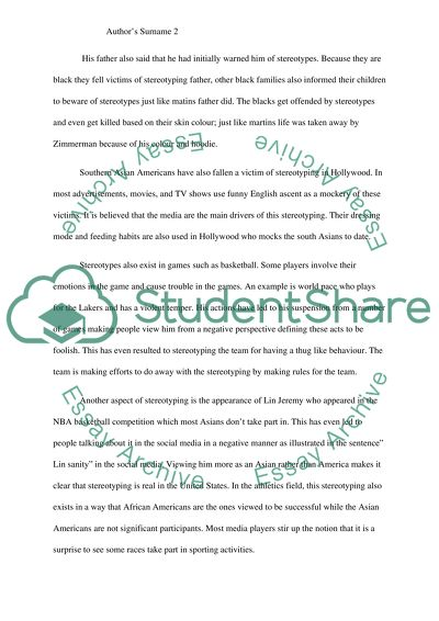 Essay In English For Students Stereotyping In The United States High School Essay also Gay Marriage Essay Thesis Stereotyping In The United States Essay Example  Topics And Well  Essays On Health