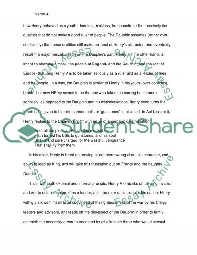 Shakespeare henry v essay