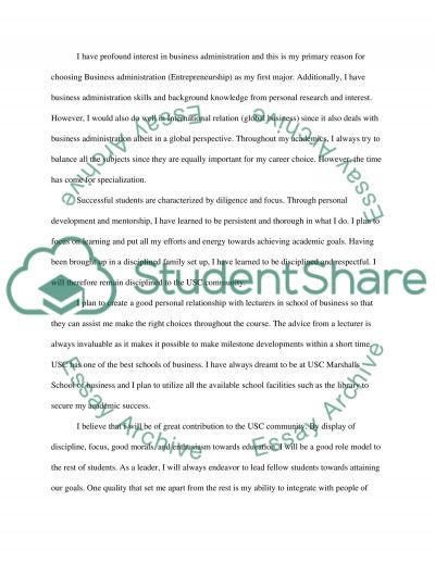 Transfer personal statement