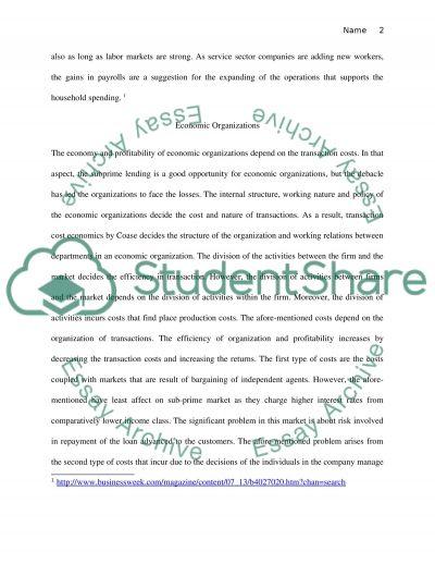 Economics of Strategy essay example