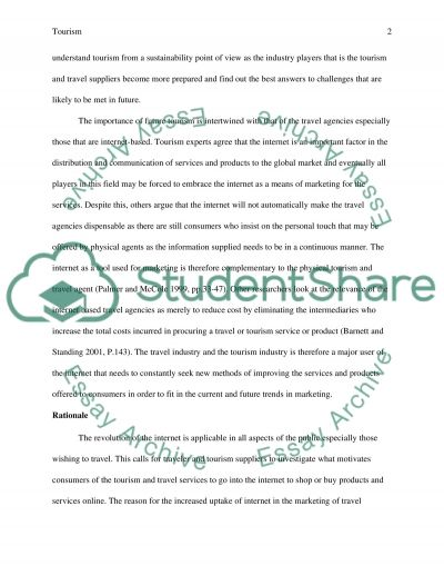 Introduction - Rationale - Conclusion essay example