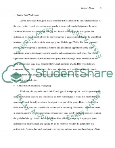 What Makes an Effective Team Work essay example