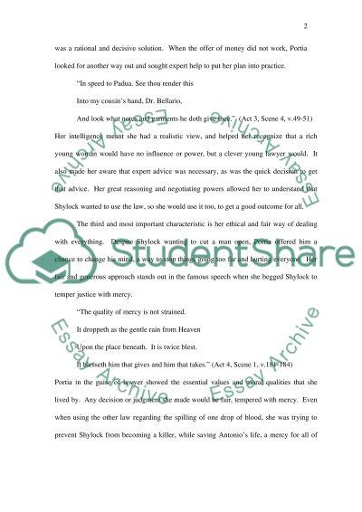 The Merchant of Venice essay example