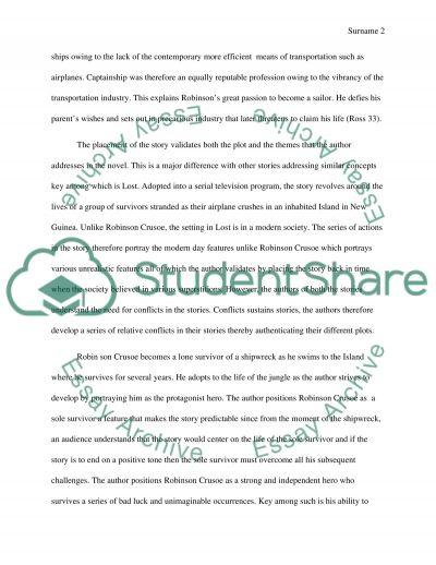 Robinson crusoe research paper
