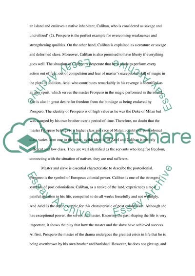 Model English Essays The Postcolonial Of The Tempest Secondary School English Essay also Business Strategy Essay The Postcolonial Of The Tempest Essay Example  Topics And Well  Compare And Contrast Essay High School Vs College