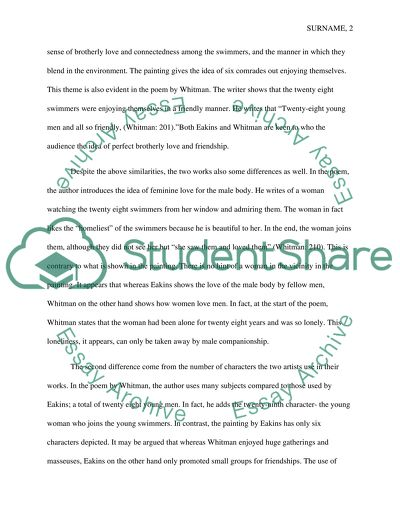 The Swimming Hole and Song of Myself Essay Example | Topics and Well