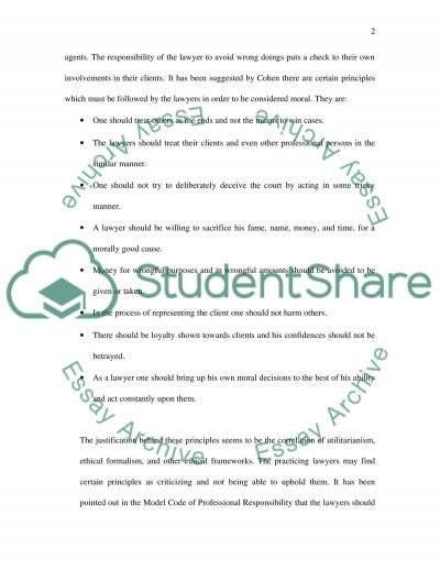 Personal Code of Ethics Essay Essay example