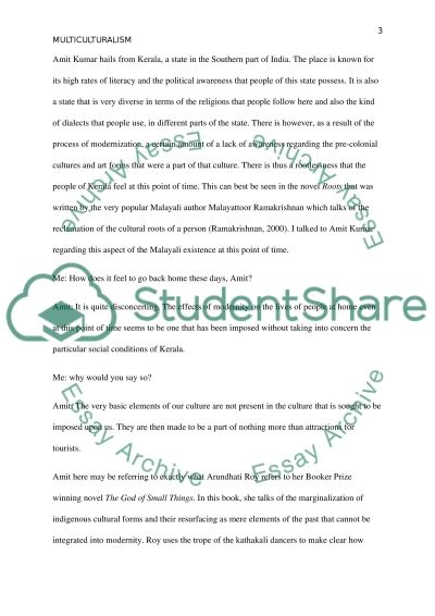 Ethnographic Research paper Essay example