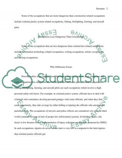 OSHA essay example