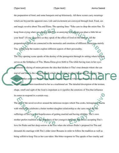 like water for chocolate essay example  topics and well written  like water for chocolate