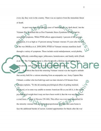 The Vietnam War essay example