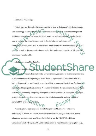 Virtual Tour Technology essay example