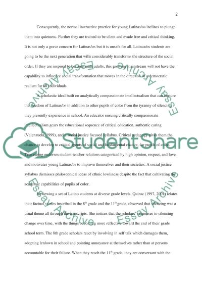 Latina/o students and Education essay example