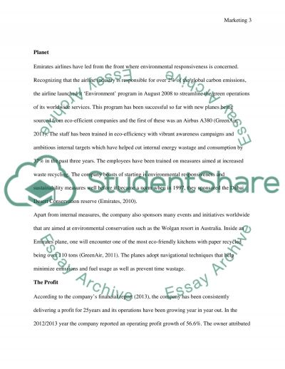 Emirates Airways essay example