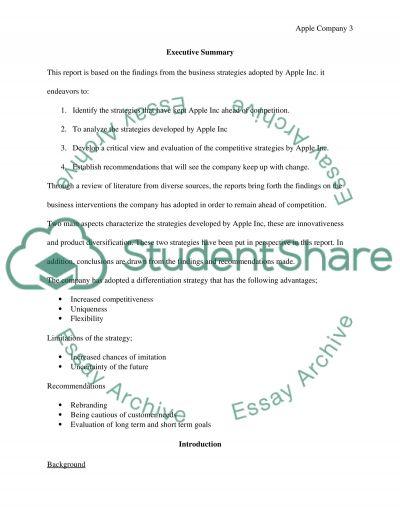 APPLE COMPANY essay example