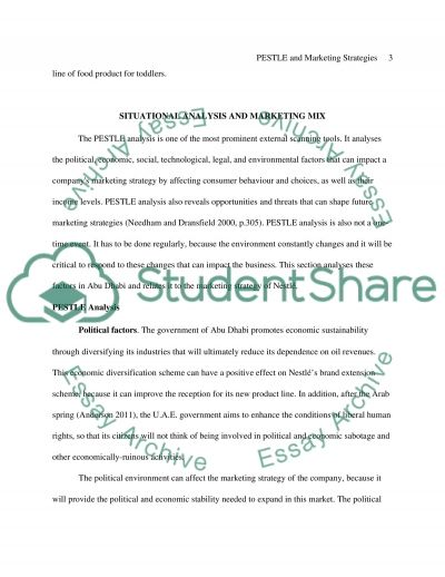 PESTLE and Marketing Strategies Essay example