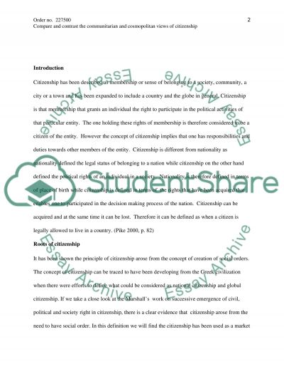 Sample Introduction Essay Communitarian And Cosmopolitan Views Of Citizenship I Believe Essays also Sinhala Essays Communitarian And Cosmopolitan Views Of Citizenship Essay Art Essay Sample