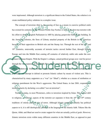 War On Terrorism Policies In America Essay Example  Topics And Well  War On Terrorism Policies In America A Modest Proposal Essay also Good Essay Topics For High School  I Need Help In Writing A Research