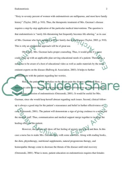 Endometriosis essay example