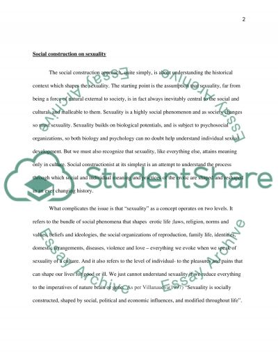 Construction of Gender and Sexual Studies essay example
