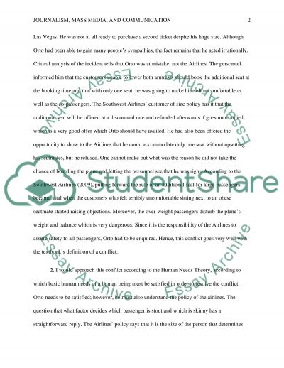 What is Conflict essay example