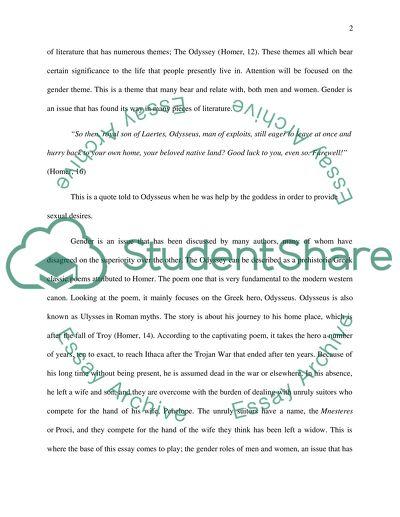 The Odyssey Essay Topics - | TopicsMill