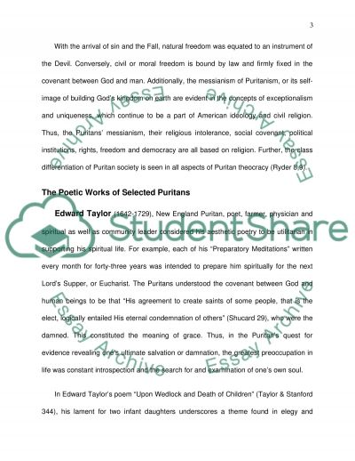 puritanism research paper The short story young goodman brown by nathaniel hawthorne illustrates several central doctrines and beliefs that the puritan society held closely these includ.