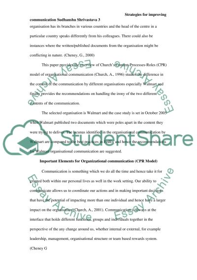 Organizational Communication Term Paper essay example