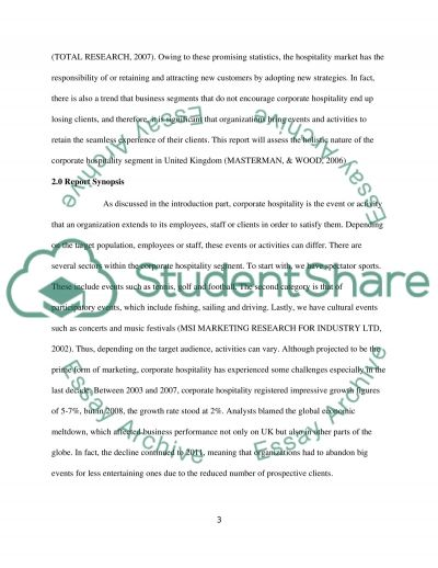 Corporate Hospitality essay example