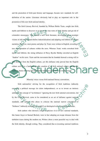 Irish Literature in English