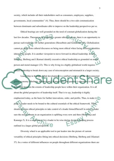 A term paper covering a leadership topic* essay example