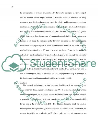 Communication Analysis and Application Essay example