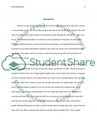 Are Social Networking Cites a Gateway to Infidelity essay example