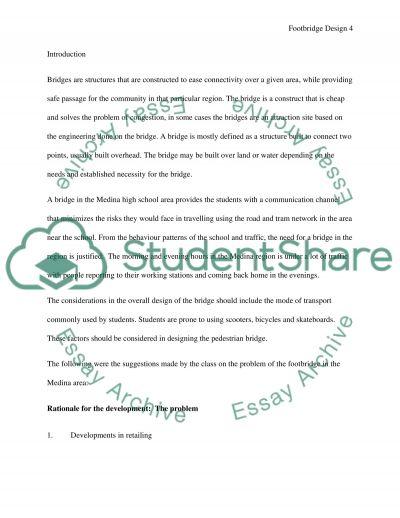 Medina highschool footbridge design essay example