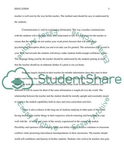 Attributes of a Student Teaching Experience