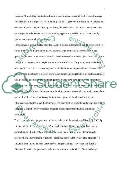 Critcal essay of work based learning, Title: To critically reflect GLP-1 Education programme of Tayside