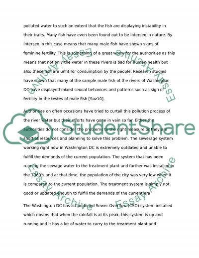 water pollution in washington dc essay example topics and well  water pollution in washington dc essay example