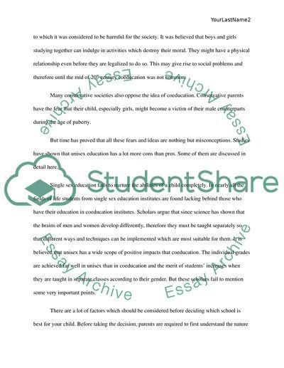 The Effect of Unisex School