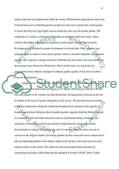 Event reflection paper